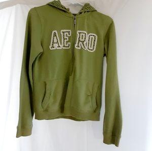 Aeropostale Hoodie 3/4 Zip-Up Sweatshirt